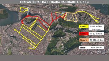 Mapa geral do projeto completo para a entrada da Cidade. #pracegover
