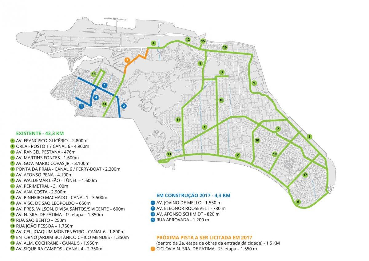 Confira no mapa abaixo as pistas existentes ef7cf244c4dd1