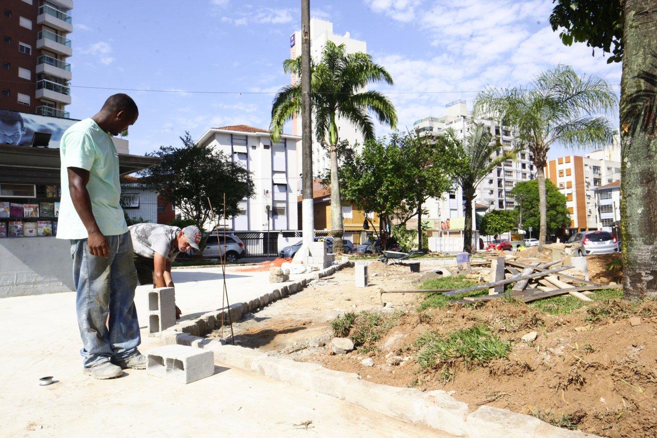 37de7bf95 Revitalização da Praça Franklin Delano Roosevelt tem 60% dos trabalhos  executados
