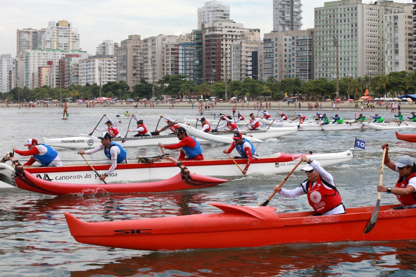 Santos recebe uma das maiores competições mundiais de canoa havaiana |  Prefeitura de Santos